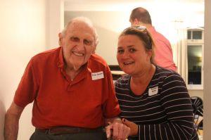 Peter Searle with Caroline Butlin